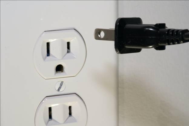 A socket on a wall