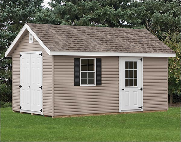 The Deluxe Estate Shed from Fifthroom is a great customizable options for a backyard office.
