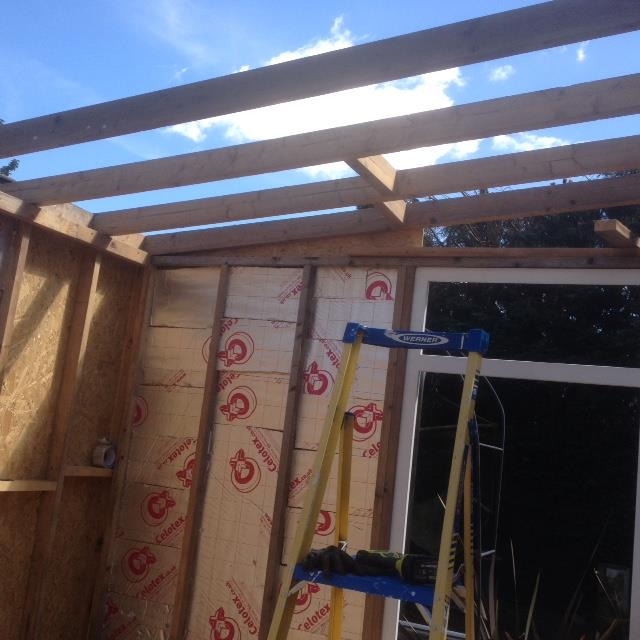 Wall joists have been added here at regular intervals, from Roger Perkins.