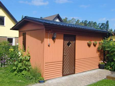 Upgraded shed in someone's backyard, from Susanne Nilsjo of FreeImages